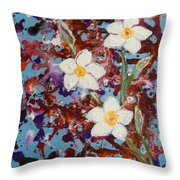 Plumeria Splash Throw Pillow