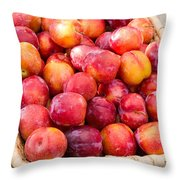 Plums In A Basket Throw Pillow