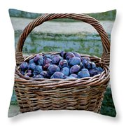 Plums In A Basket, Southern Bohemia Throw Pillow