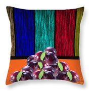Plums Throw Pillow