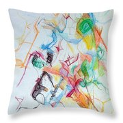 Plunging The Depths Of Being 1 Throw Pillow by David Baruch Wolk