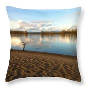 Plunking Waters Throw Pillow