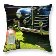 Plymouth And Baghera Throw Pillow