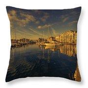 Plymouth Barbican Marina  Throw Pillow