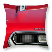 Plymouth Barracuda Grille Emblem Throw Pillow