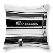 Plymouth Barracuda Taillight Emblem -0711bw Throw Pillow
