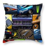 Plymouth Collage No. 1 Throw Pillow