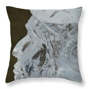 Plymouth Ice Festival Throw Pillow