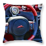 Plymouth Prowler Steering Wheel Throw Pillow