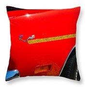 Plymouth Road Runner Closeup Throw Pillow