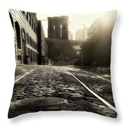 Plymouth Street Throw Pillow