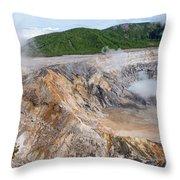 Poas Volcano Crater Throw Pillow