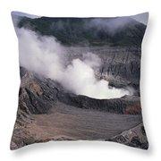 Poas Volcano National Park Costa Rica Throw Pillow