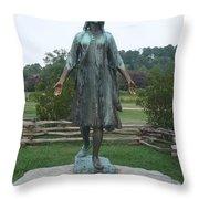 Pocahontas Sculpture Throw Pillow