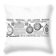 Pocket Watches, 1888 Throw Pillow