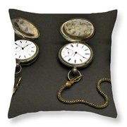 Pocket Watches Throw Pillow