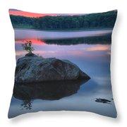 Poconos Sunset Mirror Throw Pillow