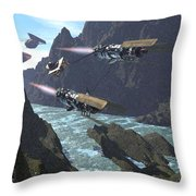 Pod Racers Competing For The Lead Throw Pillow