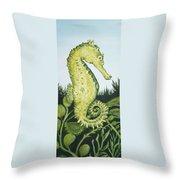 Pod Seahorse Throw Pillow