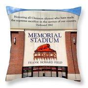 Poe Plaza - Clemson University Throw Pillow