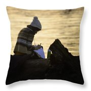 Poems By The Sea Throw Pillow