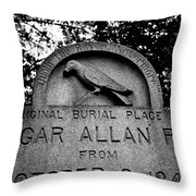 Poe's Original Burial Place Throw Pillow