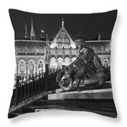 Poet And Parliament Throw Pillow