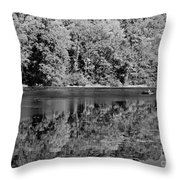 Poinsett State Park In Black And White Throw Pillow