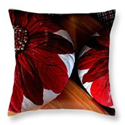 Poinsettias - Handmade - Crafts - Pumpkins Throw Pillow