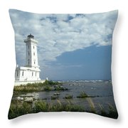 Point Abino Lighthouse Throw Pillow