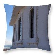 Point Abino Lighthouse Windows Throw Pillow