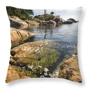 Point Atkinson Lighthouse In Vancouver Bc Vertical Throw Pillow