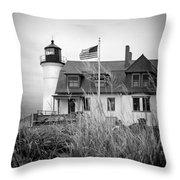 Point Betsie Lighthouse II Throw Pillow