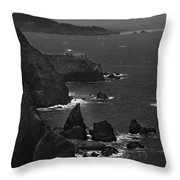 Point Bonita Light Throw Pillow by Mike McGlothlen