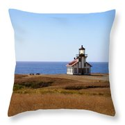 Point Cabrillo Light House Throw Pillow