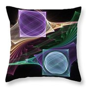 Point / Counterpoint Throw Pillow