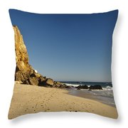 Point Dume At Zuma Beach Throw Pillow by Adam Romanowicz