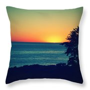 Malibu Sunset Throw Pillow