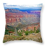 Point Imperial 8803 Feet On North Rim Of Grand Canyon National Park-arizona   Throw Pillow