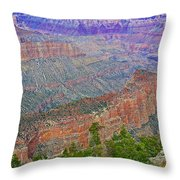 Point Imperial On North Rim Of Grand Canyon National Park-arizona   Throw Pillow