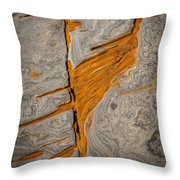 Point Lobos Abstract 13 Throw Pillow