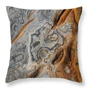 Point Lobos Abstract 4 Throw Pillow