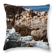 Point Lobos Coast 2 Throw Pillow