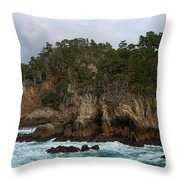 Point Lobos Coastal View Throw Pillow