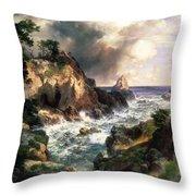 Point Lobos Monterey California Throw Pillow by Thomas Moran