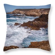 Point Lobos Surf Throw Pillow