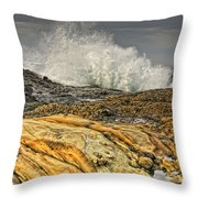 Point Lobos Wave Throw Pillow by Julianne Bradford