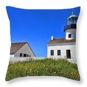 Point Loma Lighthouse By Diana Sainz Throw Pillow