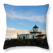 Point No Point Lighthouse Throw Pillow
