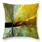 Point Of Impact In Copper And Green2 Throw Pillow